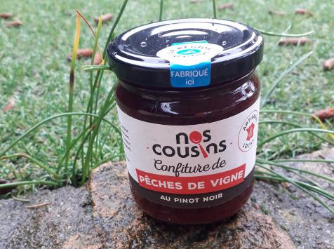 Nos cousins Conserverie - Confiture De Pêche De Vigne - Pinot Noir 240g