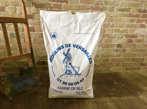 Moulins de Versailles - Farine De Blé T55 Boulangère Corde Bleue - 25kg