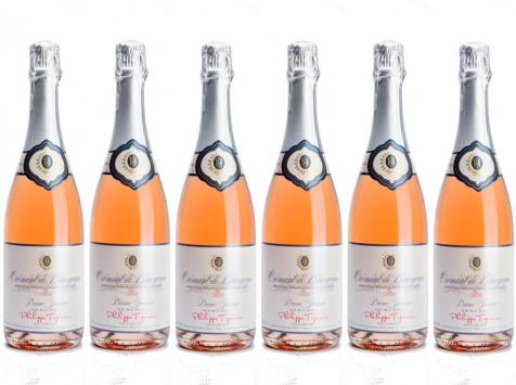 Domaine TUPINIER Philippe - 6 Bouteilles De Crémant De Bourgogne Rosé
