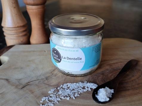 LA FERME DES BALEINES - La Dentelle - Fleur De Sel Extra Fine De L'ile De Ré - 250 G - Terre Saline