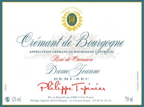Domaine TUPINIER Philippe - 3 Bouteilles De Crémant De Bourgogne Rosé