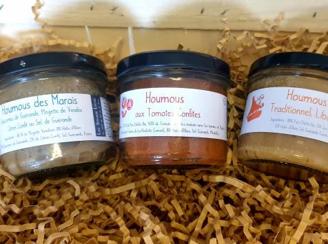 Ferme du Bois de Boulle - Les Veggies : Houmous traditionnel Libanais, Houmous Salsa et Houmous des Marais Salants