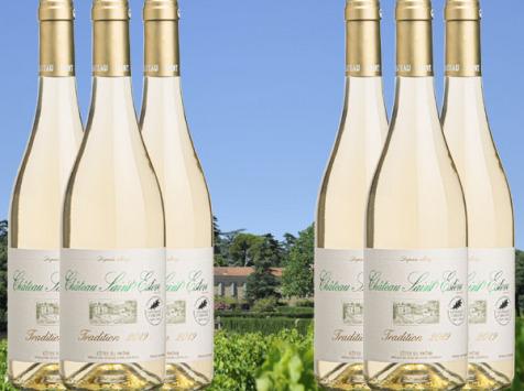 Château Saint Estève d'Uchaux - Viognier Roussanne Blanc sec Tradition 2020 AOP Côtes du Rhône BIO x6