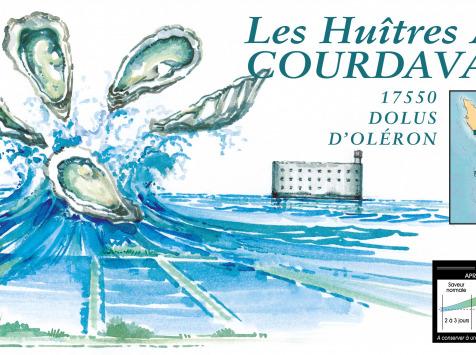 Les Huîtres Courdavault Alain & Fils - Offre Pro: 15 Kg Fines Courdavault Calibre 2 ( 86/120 Grammes) Min 128 Huîtres
