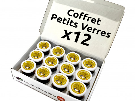 Maison du Pruneau - Coffret Petits Verres x12 - Pruneau d'Agen IGP à l'Armagnac