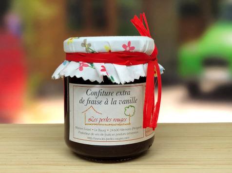 Les Perles Rouges - Confiture Extra De Fraise À La Vanille Bourbon