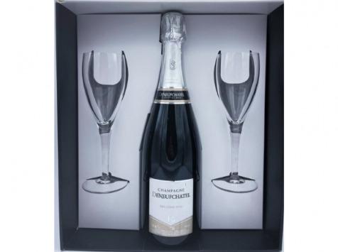 Champagne Deneufchatel - Millésime + Flûtes
