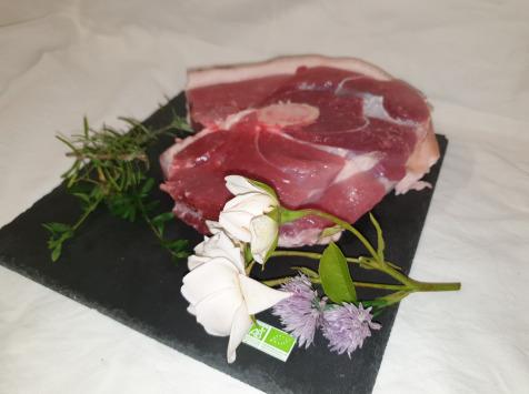 La Ferme du Montet - [SURGELE] Rouelle - Porc Noir Gascon - BIO  - 1000 g