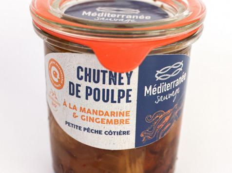 Méditerranée Sauvage - Chutney de Poulpe à la Mandarine et au Gingembre