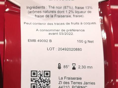 La Fraiseraie - Thé Noir Fraise