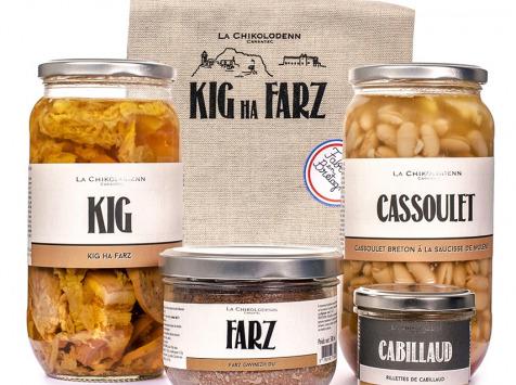 La Chikolodenn - Coffret Promenade Léonarde (1 x kig Ha Farz, 1 x Cassoulet Breton, 1 x Rillettes De Cabillaud)