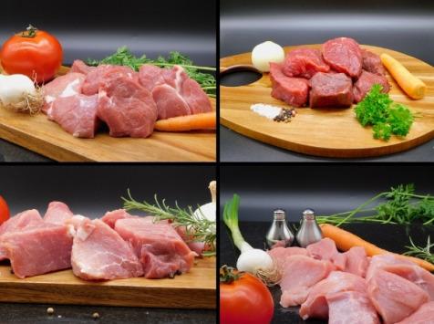 Le Marvillois - Colis de viandes à mijoter - porc/agneau/bœuf/veau - 4,8 kg