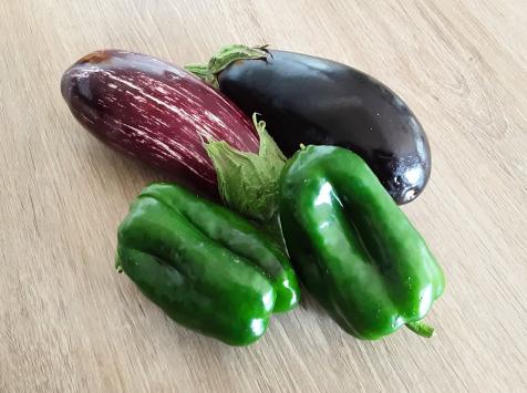 Gourmets de l'Ouest - Lot de 2 poivrons + 2 aubergines de Saint-Malo