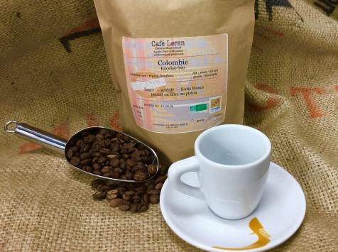 Café Loren - Café De Colombie-excelso Bio: En Grains