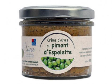 Les amandes et olives du Mont Bouquet - Crème d'olives au piment d'Espelette 100 g