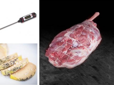 MAISON LASCOURS - Gigot d'Agneau 2,5 kg + Foie Gras Mi Cuit 230g + 1 Thermomètre de Cuisson Offert