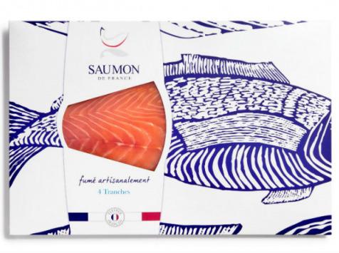 Saumon de France - Saumon De France Fumé - 4 Tranches - 180g