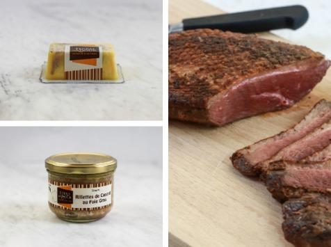 """Terres d'Adour - Colis Gourmand """"Terroir"""" : Foie Gras, Rôti de Magret au Piment d'Espelette et Rillettes de canard"""