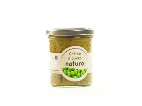 Les amandes et olives du Mont Bouquet - Creme d'olives  nature 180 g