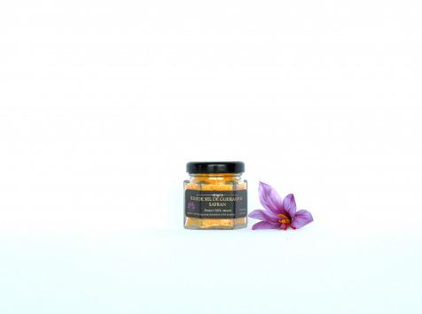 Le safran - l'or rouge des Ardennes - Fleur De Sel De Guérande Au Safran En 30g