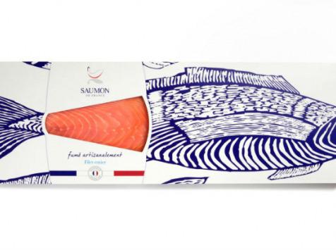 Saumon de France - Saumon De France Fumé - Filet Entier - 1100g
