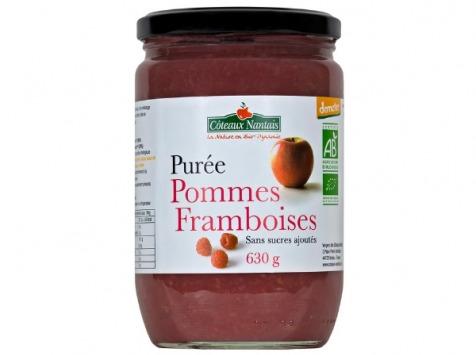 Les Côteaux Nantais - Purée Pommes Framboises 630g