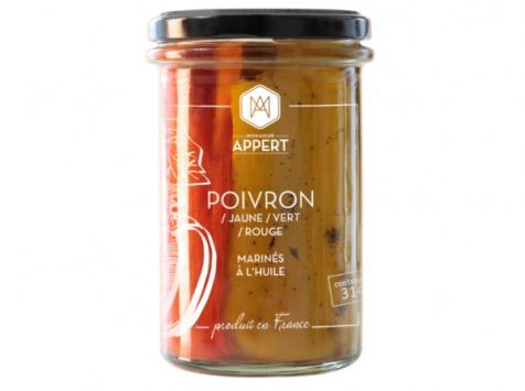 Monsieur Appert - Poivrons/jaune/vert/rouge Marinés À L'huile