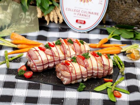 La ferme Grandvillain - Rôti De Poulet Fermier Orloff (bacon Et Emmental) - 800 G