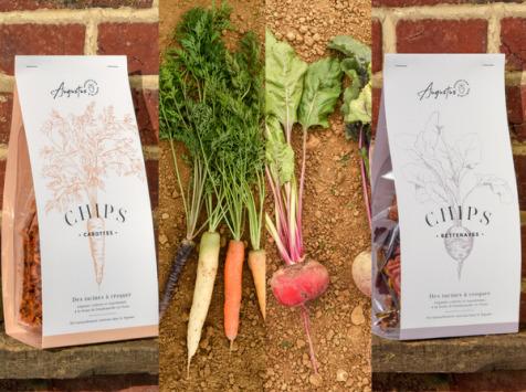 Augustus - Chips betteraves et carottes (3 paquets de chaque + 1 OFFERT)