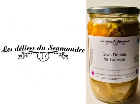 Les Délices du Scamandre - Lot De 3 Pots De Gras Double (tripes De Taureau) 3x650g