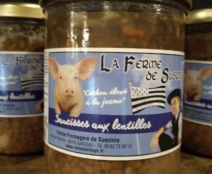 Tome de Rhuys - Lentilles Saucisse