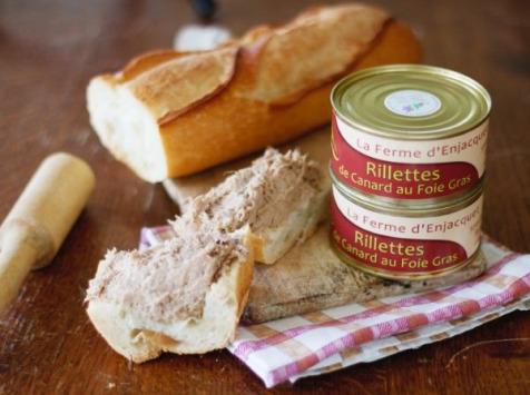 La ferme d'Enjacquet - Rillettes de Canard au Foie Gras 200g X10