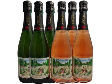 Champagne J. Martin et Fille - Cuvée des Amoureux de Peynet Tradition et Rosé - 6x75cl