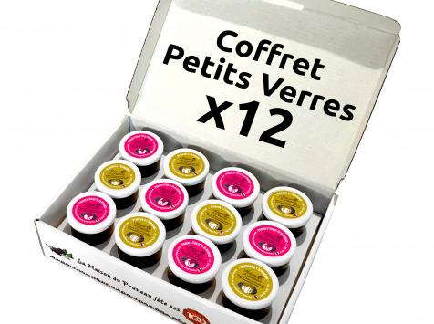 Maison du Pruneau - Coffret 12 Petits Verres Mix Pruneaux Armagnac (x6) et Eau de Vie (x6)