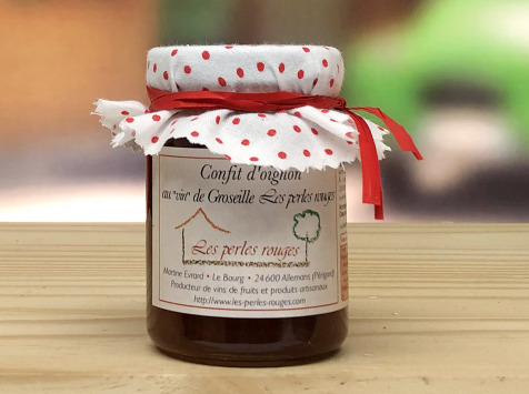 """Les Perles Rouges - Confit D'oignons Au """"vin"""" De Groseille Les Perles Rouges"""
