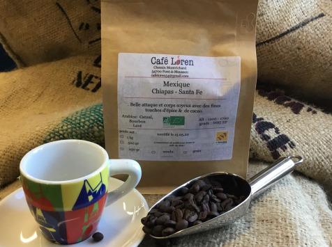 Café Loren - Café Mexique Chiapas Santa Fe Bio: En Grains - 1000g
