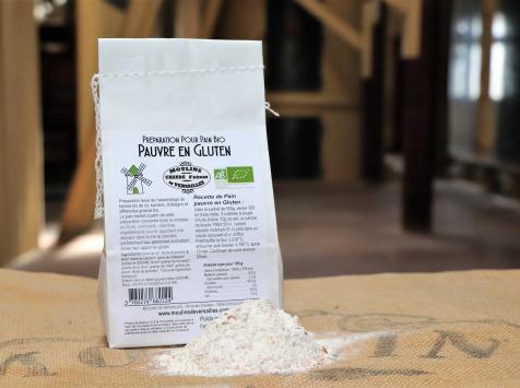 Moulins de Versailles - Préparation Pauvre En Gluten Pour Pain Biologique - 500g