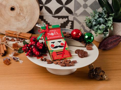 Le Petit Atelier - Étui De 4 Sucettes Père Noel Chocolat Au Lait Bio