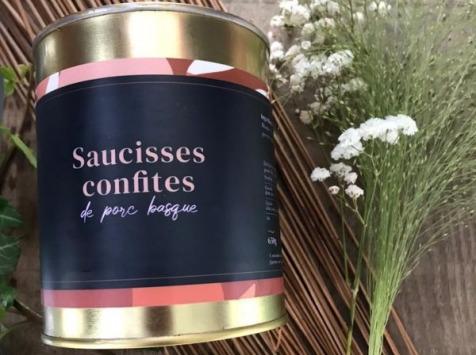 Ferme Arrokain - Saucisses confites de porc Kintoa 650g