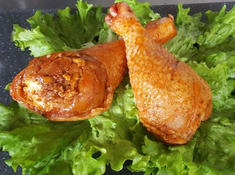 Les Volailles Fermières de Chambon - Demi Cuisses de Volailles marinées au piment et au paprika 1 kg