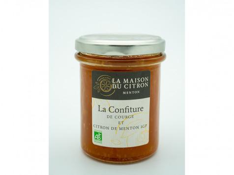 La Maison du Citron - Confiture Bio De Courge Et Citron De Menton Igp 220gr