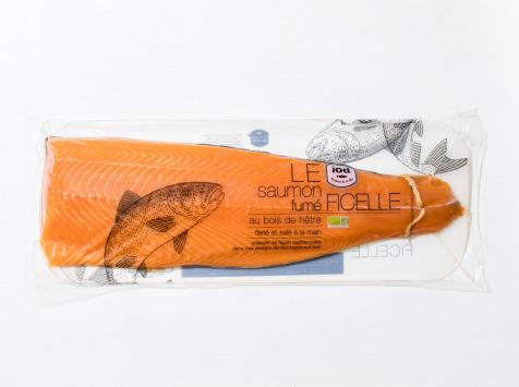 ÏOD - Filet entier de saumon fumé à la ficelle non tranché BIO