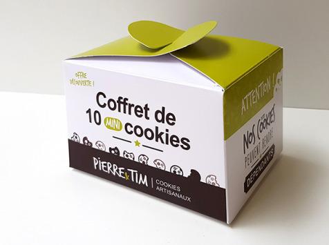 Pierre & Tim Cookies - Coffret Découverte 10 Mini-cookies