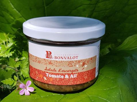 L'escargotière BONVALOT - Salade d'Escargot Tomate et Ail 90g