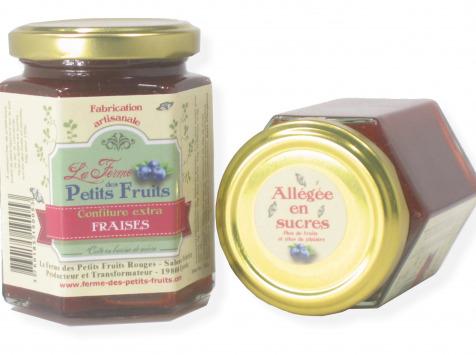 La Ferme des petits fruits - Confiture De Fraises Allégée En Sucres