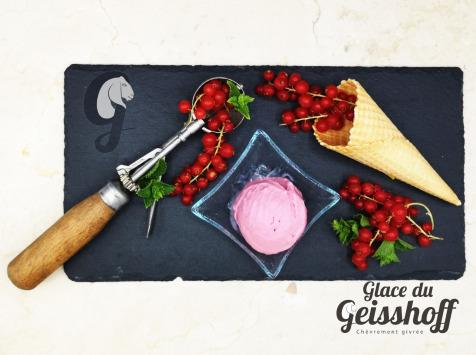 Glace du Geisshoff - Groseille Crème Glacée Fermière au Lait de Chèvre 750 ml