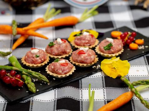 La ferme Grandvillain - Mini Tartelettes - Poulet & Chèvre - 6 X 15 G