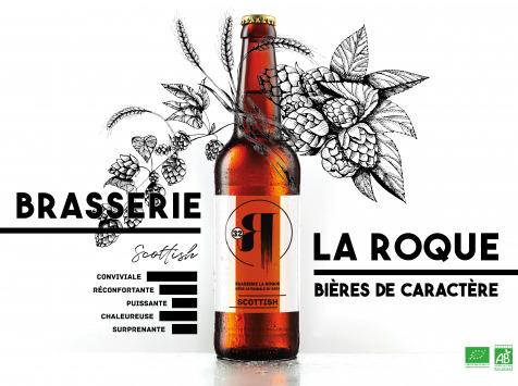 La Roque  Brasserie Bio, paysanne et familiale - Bière Scottish 12x33cl - Brasserie Fermière Bio