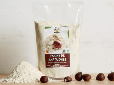 GAEC Roux - Farine de Châtaignes d'Ardèche BIO et AOP - 500 g