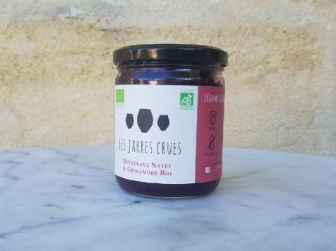Les Jarres Crues - Betterave, Navet & Gingembre BIO Lacto-fermentés - 400 g